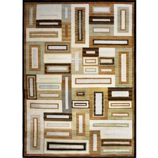 Home Dynamix Royalty Collection Beige-Multi (7'8 X 10'4) Machine Made Polypropylene Area Rug
