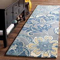 "Safavieh Hand-Tufted Soho Blue/ Multi Wool/ Viscose Rug - 2'6"" x 8'"