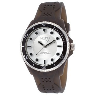 Heko +Life Women's Black Resin, Silvertone and White Dial Watch