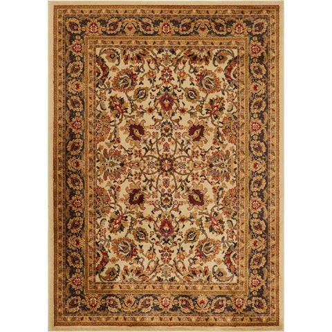 Oriental Floral Stain-resistant Area Rug - 7'8 x 10'4