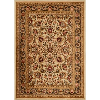 Oriental Floral Stain-resistant Area Rug (7'8 x 10'4) - 7'8 x 10'4