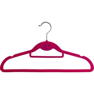Pink Cascading Slim-line Hanger With Notches and Tie Bar