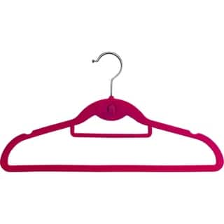 Pink Cascading Slim-line Hanger With Notches and Tie Bar|https://ak1.ostkcdn.com/images/products/11769793/P18682660.jpg?impolicy=medium