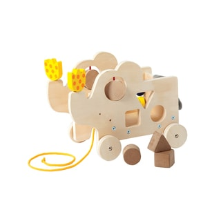Manhattan Toy My Pal Elly Natural Wooden Pull Along Toy