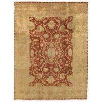 Exquisite Rugs Anatolian Oushak Rust / Gold New Zealand Wool Rug - 14' x 18'