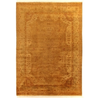 Anatolian Oushak Gold / Grey New Zealand Wool Rug (12' x 15')