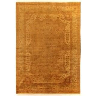Anatolian Oushak Gold/Grey New Zealand Wool Rug (13' x 18')