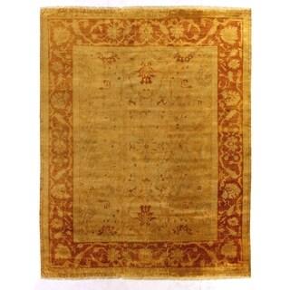 Exquisite Rugs Anatolian Oushak Gold / Rust New Zealand Wool Rug - 14'3 x 18'4