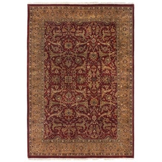 Agra Red and Gold New Zealand Wool Rug (14' x 18')