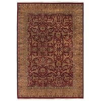 Exquisite Rugs Agra Red / Gold New Zealand Wool Rug - 14' x 18'