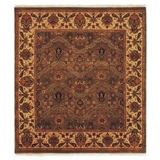 Exquisite Rugs Agra Olive / Gold New Zealand Wool Rug (12' x 18')