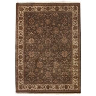 Agra Light Green / Beige New Zealand Wool Rug (12' x 18')