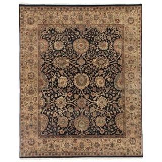 Agra Black / Beige New Zealand Wool Rug (15' x 20')