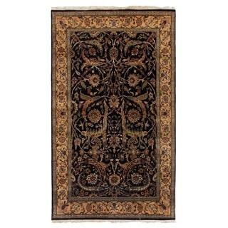 Agra Black / Gold New Zealand Wool Rug (15' x 20')