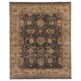 Exquisite Rugs Agra Black / Beige New Zealand Wool Rug (14' x 18')