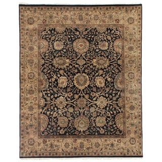 Agra Black / Beige New Zealand Wool Rug (14' x 18')