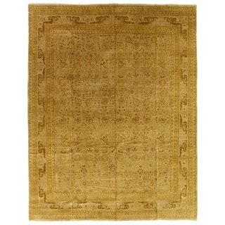 Exquisite Rugs Ziegler Brown / Beige New Zealand Wool Rug (14' x 18')