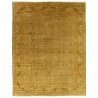 Exquisite Rugs Ziegler Brown / Beige New Zealand Wool Rug - 14' x 18'