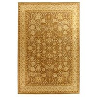 Exquisite Rugs Ziegler Sand / Beige New Zealand Wool Rug (12' x 15')