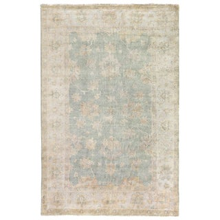 Turkish Oushak Light Blue New Zealand Wool Rug (12' x 15')