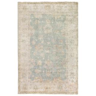 Turkish Oushak Light Blue New Zealand Wool Rug (12' x 15')