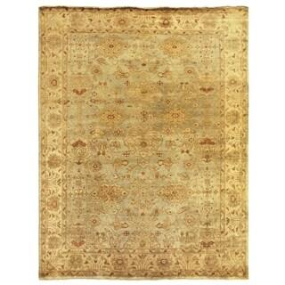 Turkish Oushak Light Blue / Ivory New Zealand Wool Rug (12' x 15')