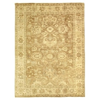 Exquisite Rugs Turkish Oushak Grey / Brown New Zealand Wool Rug (14' x 18')