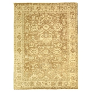 Exquisite Rugs Turkish Oushak Grey/ Brown New Zealand Wool Rug (14' x 18')