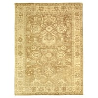 Exquisite Rugs Turkish Oushak Grey / Brown New Zealand Wool Rug (14' x 18')