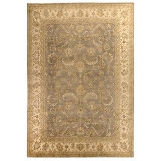 Turkish Oushak Grey / Ivory New Zealand Wool Rug (12' x 15')