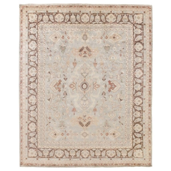 Exquisite Rugs Turkish Oushak Brown / Grey New Zealand Wool Rug (15' x 20')