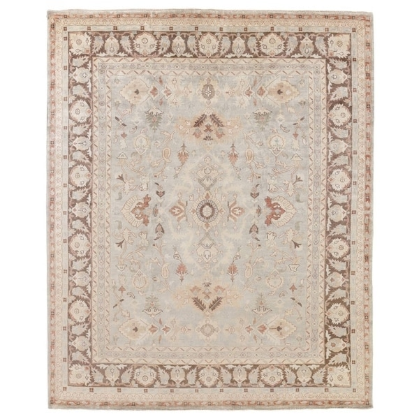 Exquisite Rugs Turkish Oushak Brown / Grey New Zealand Wool Rug - 15' x 20'