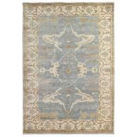 Exquisite Rugs Turkish Oushak Blue / Ivory New Zealand Wool Rug - 14' x 18'