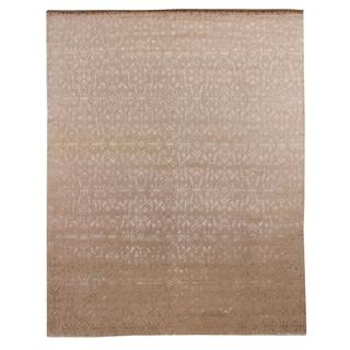 Tibetan-weave Ivory Wool / Art Silk Rug (14' x 18')