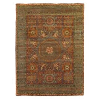 Exquisite Rugs Tabriz Rust / Green New Zealand Wool Rug - 14' x 18'