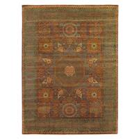 Exquisite Rugs Tabriz Rust / Green New Zealand Wool Rug - 14'4 x 19'3
