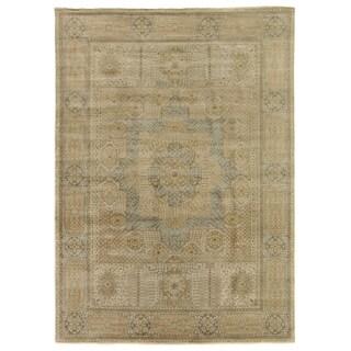 Tabriz Pale Gold / Grey New Zealand Wool Rug (12' x 15')