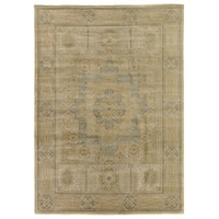 Exquisite Rugs Tabriz Pale Gold / Grey New Zealand Wool Rug (12' x 15')