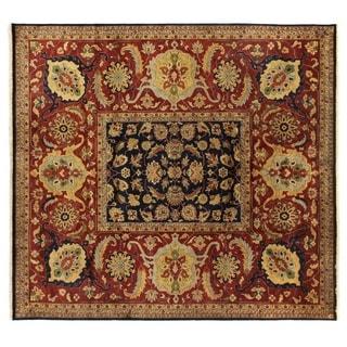 Tabriz Navy New Zealand Wool Rug (14'1 x 16'8)