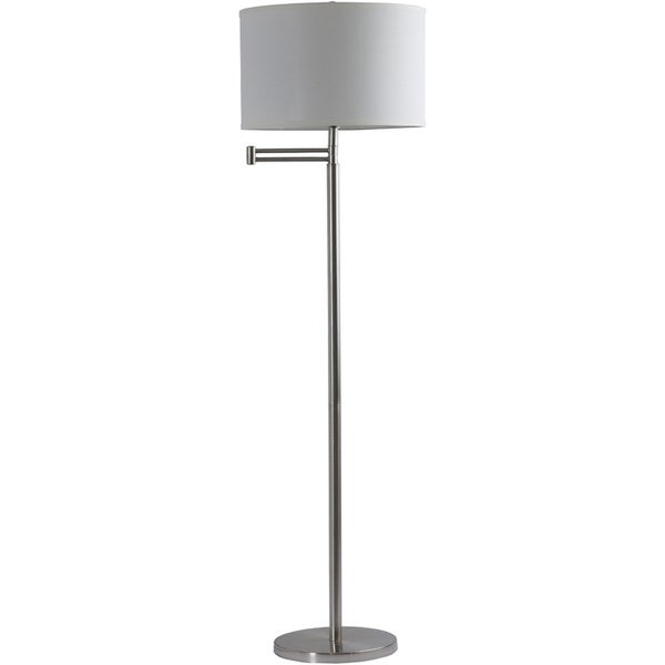 Rustic Adam 1-light Floor Lamp with Brushed Nickel Finish Iron Base