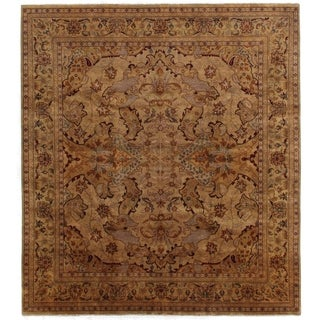 Exquisite Rugs Tabriz Gold / Green New Zealand Wool Rug (14' x 16')