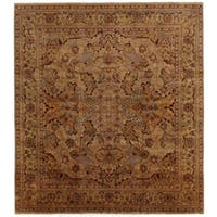 Exquisite Rugs Tabriz Gold / Green New Zealand Wool Rug - 14' x 16'