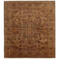Exquisite Rugs Tabriz Gold / Green New Zealand Wool Rug - 14' x 18'