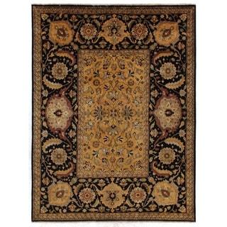 Exquisite Rugs Tabriz Gold / Black Hand-spun New Zealand Wool Rug (14'6 x 16'6)