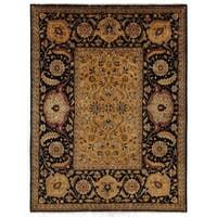 Exquisite Rugs Tabriz Gold / Black Hand-spun New Zealand Wool Rug (14'6 x 16'6)