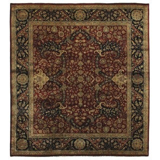 Exquisite Rugs Super Kashan Red New Zealand Wool Rug (12' x 15')