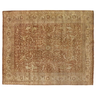 Exquisite Rugs Sultanabad Rust / Ivory New Zealand Wool Rug (12' x 15')