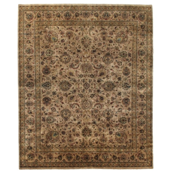 Exquisite Rugs Sultanabad Beige / Multi New Zealand Wool Rug (14' x 18')