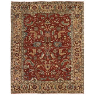 Exquisite Rugs Serapi Red / Gold New Zealand Wool Rug (12' x 15')