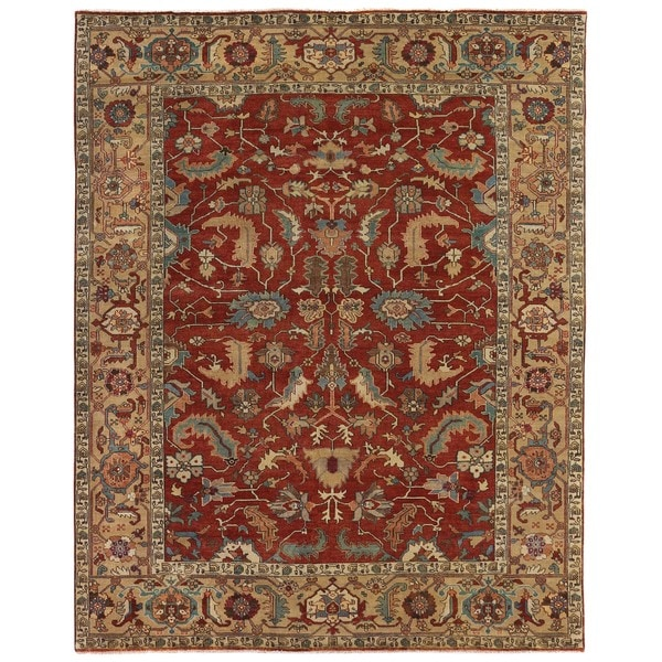 Exquisite Rugs Serapi Red / Gold New Zealand Wool Rug - 12' x 15'